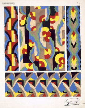 Plate 3, from 'Inspirations', published Paris, 1930s Reprodukcija