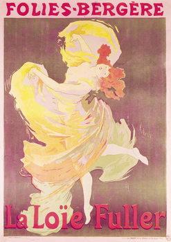Poster advertising Loie Fuller (1862-1928) at the Folies Bergere, 1897 Reprodukcija