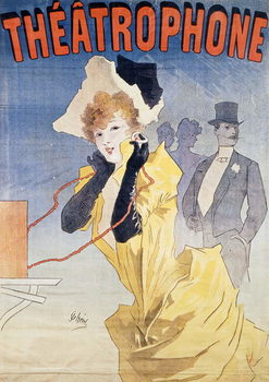 Poster Advertising the 'Theatrophone' Reprodukcija