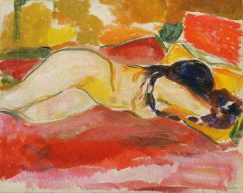 Reclining Female Nude, 1912/13 Reprodukcija