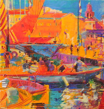 Saint-Tropez in May, 2020 Reprodukcija