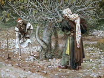 The Barren Fig Tree, illustration for 'The Life of Christ', c.1886-94 Reprodukcija