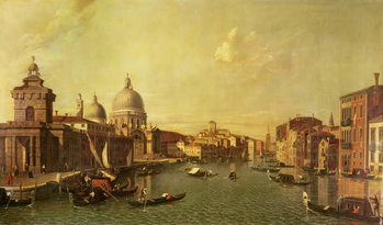 The Church of La Salute and the Grand Canal Reprodukcija