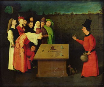 The Conjuror (oil on panel) Reprodukcija