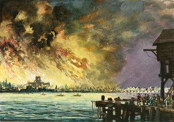 The great fire of London Reprodukcija
