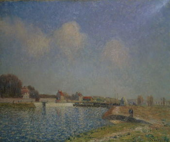 The Loing at Saint-Mammes, 1885 Reprodukcija