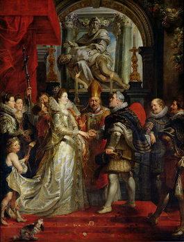 The Proxy Marriage of Marie de Medici (1573-1642) and Henri IV (1573-1642) 5th October 1600, 1621-25 Reprodukcija