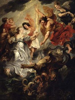 The Reconciliation of Marie de Medici and her son, 15th December 1621, 1621-25 Reprodukcija