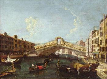 The Rialto in Venice Reprodukcija