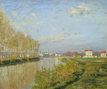 The Seine at Argenteuil, 1873 Reprodukcija