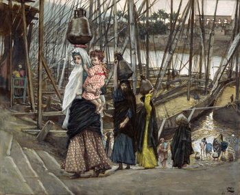 The Sojourn, Egypt, illustration for 'The Life of Christ', c.1886-94 Reprodukcija