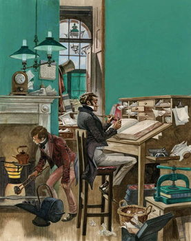 Victorian office Reprodukcija