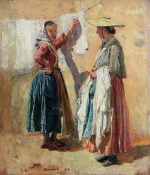 Washerwomen in Antibes, 1869 Reprodukcija