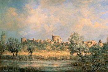 Windsor Castle: from the River Thames Reprodukcija