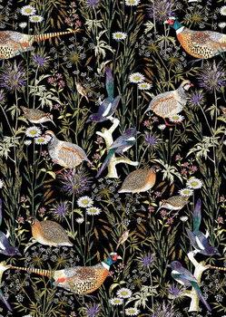 Woodland Edge Birds Reprodukcija