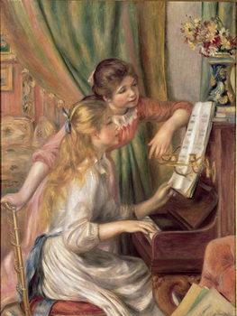 Young Girls at the Piano, 1892 Reprodukcija