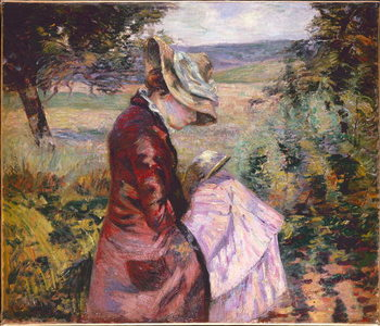 Madame Guillaumin reading, c.1887 Reprodukcija