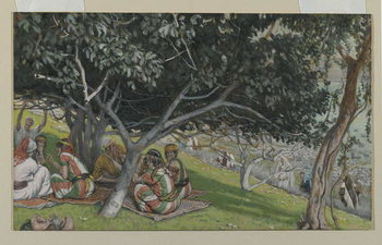 Nathaniel Under the Fig Tree, illustration from 'The Life of Our Lord Jesus Christ' Reprodukcija