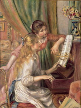 Young Girls at the Piano, 1892 Reprodukcija