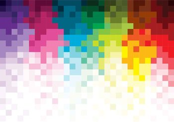 Fotomural  Arcoiris patron pixel