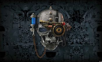 Fotomurale Arte de la alquimia Cráneo del necronaut