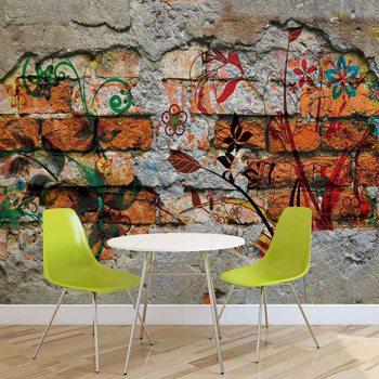 Fotomural Arte de la calle de la pintada de la pared
