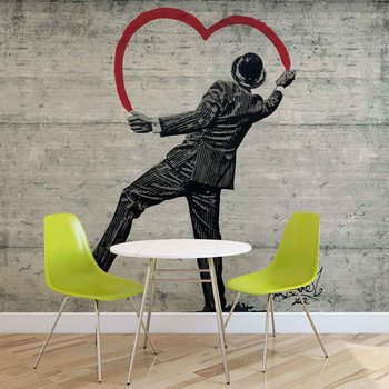 Fotomurale Banksy Graffiti pared de concreto