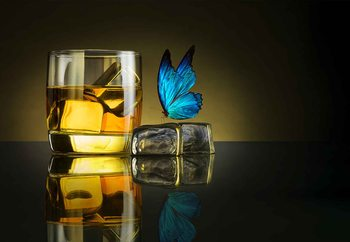 Fotomural  Butterfly Drink
