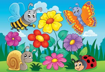 Fotomural Cartoon Bugs