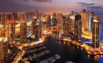 Fotomural Ciudad Dubai Marina Skyline