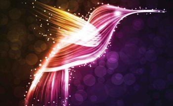 Fotomurale  Colibri colores neon