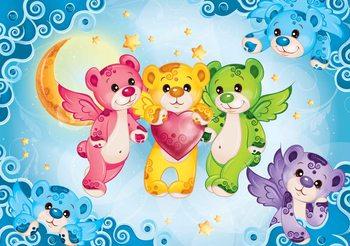 Fotomural  Cuidado Bears Heart