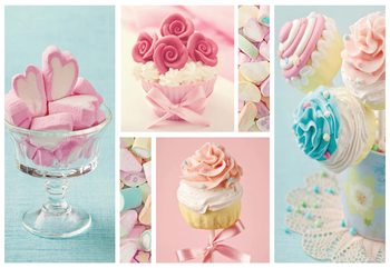 Fotomural Cupcakes And Marshmallows