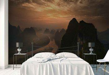 Fotomural Dawn At Li River