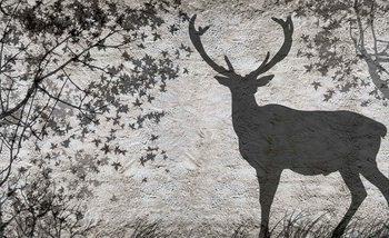 Fotomural Deer Tree Leaves Wall