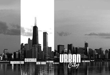 Fotomural  El horizonte de la ciudad