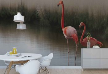 Fotomural Flamingos On The Lake