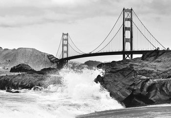 Fotomurale  Golden Gate Bridge – Rock