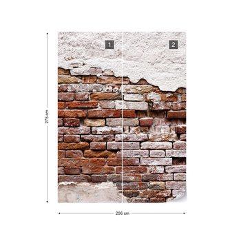 Fotomural Grunge Brick Wall