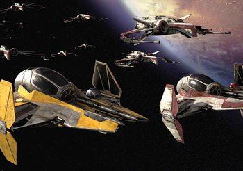 Fotomurale  Guerra de las galaxias Anakin Jedi Starfighter