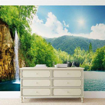 Fotomural  Lago de cascada