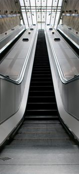 Fotomurale Las escaleras mecánicas