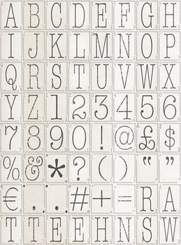 Fotomurale Letters