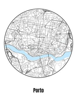 Fotomural Map of Porto