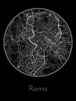 Fotomural Map of Roma