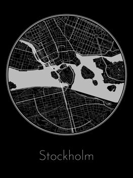 Fotomural Map of Stockholm