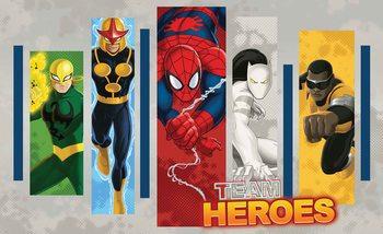 Fotomural Marvel Comics Equipo De Superheroes Papel Pintado