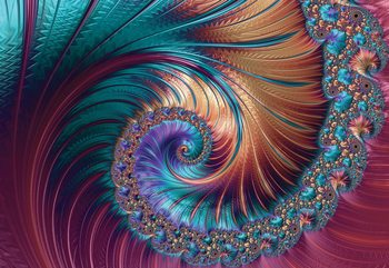 Fotomural Modern Abstract Spiral Design