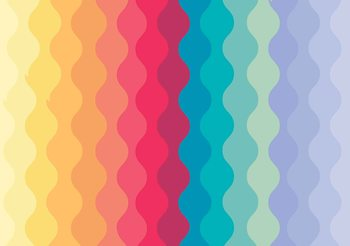 Fotomural  Modern Art Rainbow