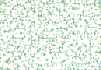 Fotomural  Modern Geometric Pattern Green